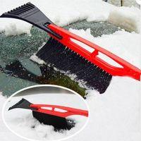 Wholesale Long Handle ABS Snow Shovel Brush With Ice Scraper Garden Outdoor Car Snow Shovels Plastic Tool