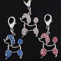 Wholesale sparkling shiny rhinestone dog style pendant for dogs pet dog tags three color is available