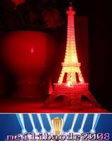 Hot Fashion Tour Eiffel Night Light Décoration Lampe LED bureau Chambre Lighting Expédition gratuite MYY16
