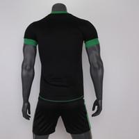 Cheap wholesale Adult Gradient Color Men Short soccer jersey Breathable sports sets football team kits training suit 2017