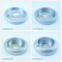 artificial corundum - 4pcs Dia75mm Vacuum Brazed Diamond CONVEX Wheel Profile grinding wheel For Stone Artificial Stone Ceremics Glass Concrete