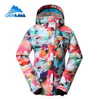 Wholesale Cikrilan Colorful Winter Warm Outdoor Windbreaker Ski Jacket Women Snowboarding Padded Coat Sonw Water Resistant Chaquetas Mujer