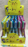 ballpoint pen colors - New Box Cute cartoon Anime Pikachu style colors pen Fashion Style Color ball pen