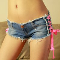 bar jeans - new nightclub bar girl ds performances Korean fashion wild Slim thin denim shorts low waist jeans women summer