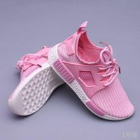Wholesale 2016 NMD Pink kids Shoes Runner Primeknit Discount Sales White Red Blue NMD Runner Sports Shoes baby boys shoes NMD toddler shoes