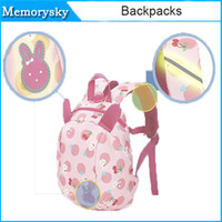 Wholesale Small Shoulder Straps Wholesale - Children Backpacks Cute Cartoon Prevent Lost Strap Package Baby Boys Girls Bag Kids Lovely Anti-lost Small Bag Pink Blue 010259