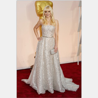 Wholesale Anna Faris Red Carpet Gowns Luxury Celebrity Gowns th Academy Awards Oscar A line Strapless Formal Dress