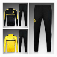 Wholesale 3A best quality football uniforms chandal Dortmund soccer sportswear training suit pants sportswear best quality