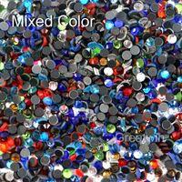 Wholesale SS16 Mixed Color DMC Hotfix Flatback Hot Fix Crystal Rhinestone DIY Iron On Garment Stones Pack