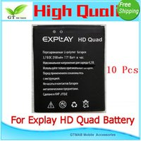 battery powered quads - 10pcs good testing Full Power Safe High Quality Mobile phone battery For Explay HD QUAD battery