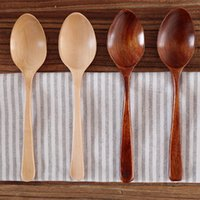 Wholesale Solid Wood Dinner Spoons cm Caring Cutlery Korea Japanese Style Flatware MOQ piece