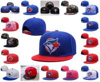 al por mayor aves jay-2016 el nuevo bordado del logotipo del pájaro del equipo de los sombreros del Snapback de Toronto Blue Jays de los hombres se divierte los casquillos de béisbol ajustables visera plana del color de Hip Hop Camo