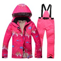 Wholesale new high quality female ski suit Sports jacket windproof outdoor climbing thickening Tuba suit pants jackets