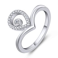 Wholesale Luxury Finger Eternity Sterling Silver Rings Jewelry With AAA Cubic Zirconia For Anniversary Birthday Travel Gift DL96020A