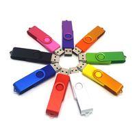 Wholesale Different Color Swivel USB Flash Drive Sticks USB Real GB GB GB GB Free Customized Logo USB Flash Drives