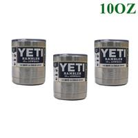 Wholesale YETI Bilayer Stainless Steel Insulation YETI Cup OZ OZ OZ Cups Travel Vehicl Beer Mug YETI Rambler Tumbler