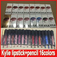 Wholesale KYLIE JENNER LIP KIT Kylie Lipkit Velvetine Liquid Matte Lipstick in Red Velvet Makeup Lip Gloss colors in stock