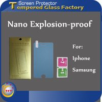 apple tft - TFT FactoryNano Explosion proof Anti broken With PackingClear Screen Protector Film Ultra Thin H Hardness Anti Scratth For Iphone7 Samsung