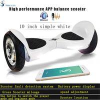 balance controls - 3 days Shipping UL2272 Verified Hoverboard APP Control inch balance wheel LED light electric skateboard Bluetooth speaker smart balance