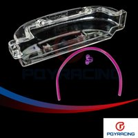 Wholesale PQY Clean Cam pulley Cover for Mitsubishi Lancer Single Cam Cover G63 CLEAR PULLEY COVER CAM COVER TIMING BELT