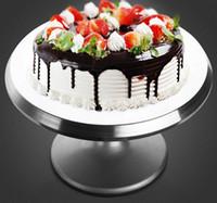 aluminum cake stand - 1pcs Cake Swivel Plate Revolving Aluminum alloy Cake Turntable Decoration Stand Platform turntable Baking tools