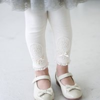 Wholesale 2016 Kids Spring Winter Warm Cotton Pants Baby Girl Lace Ruffle Leggings Pants Children Thickened Clothes Girls Legging