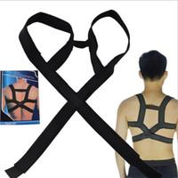 Wholesale 200pcs DHL Hot Chest Belt Healthy Therapy Back Support Brace Belt Band Posture Shoulder Corrector Straight Back Opp Bag Package TVA018