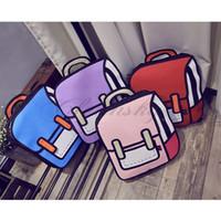 Wholesale Fedex DHL Cartoon Bag Fashion D Jump Style D Drawing Cartoon D Shoulder Messenger Bag Camera Bag Unisex Backpack M12