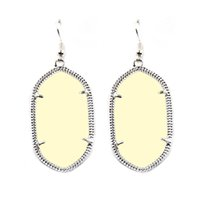 Wholesale Candy Geometry Kendra Stone Earrings Scott Chandelier Earring Various Colors Silver Plating Tonal Popular for Lady