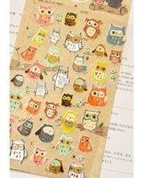 Wholesale New owl sticker Cute animals stickers DIY Good quality tt