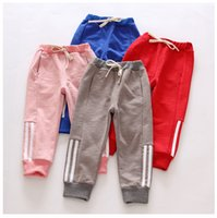 Wholesale New Boys Fashion Autumn Trousers Cotton Printed Striped Sports Trousers Kids Long Pants Children s Clothes Unisex Y