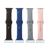 apple cocoa - 1 Silicone Sport Band For Apple Watch Band Cocoa Ocean Blue Concrete Sand Pink New Colors Wrist Strap Bracelet With Adapters