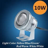 Wholesale Colorful Night Light W Led Underwater Light Waterproof Rustproof DC12V Red Yellow Light Color For Fountain etc Outdoor Decor