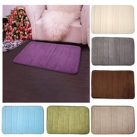Wholesale Hot Selling Memory Foam Bath Mats Bathroom Horizontal Stripes Rug Non slip Bath Mats Door mats rugs and carpets quot x24 quot E5M1 order lt no tra