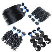 Wholesale Brazilian Human Hair bundles Cheap Hair Extension Weft Remy Unprocessed Straight Body Wave Deep Wave Kinky Curly Hair Bundles