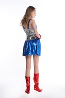 Wholesale Halloween the anime hero superman movie clothing Captain America Superwoman game
