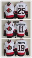 alfredsson ottawa - Men s Cheap NHL Ottawa Senators White CCM Ice Hockey Jerseys Chris Neil Daniel Alfredsson Jason Spezza Throwback Stitched Jerseys