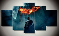 beginning oil painting - Framed Printed batman begins dark knight Painting on canvas room decoration print poster picture canvas