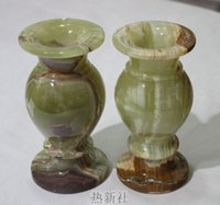 Wholesale Imported fine natural jade vase flower vase ornaments with jade gifts Home Furnishing study office