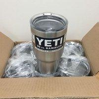 Wholesale Hot Bilayer Stainless Steel Insulation Cup OZ YETI Rambler Cups Cars Beer Mug Large Capacity Mug Tumblerful