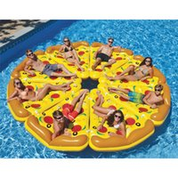 Wholesale Water Floating Island Inflatable Pizza Floating Bed Drifting Swimming Summer Toys Swimming Products Water Toys