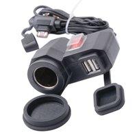 Wholesale 12V V Cigarette Lighter Dual USB GPS Power Socket Charger for Phone Motorcycle