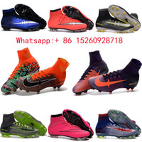 Wholesale 2017 New Mercurial x EA SPORTS original soccer cleats mercurial superfly cr7 blue best quality soccer shoes boots gold football boots mens