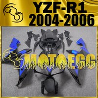 fairing r1 - Five Gifts Motoegg Motorcycle Fairings Injection Mold For Yamaha YZF R1 YZF R1 Bodywork YZFR1 Smooth Black Blue Y14M47