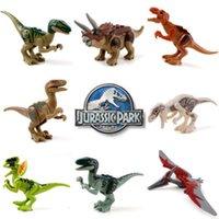Wholesale 8pcs Jurassic Park World Dinosaur Building Blocks Mini figure Kids Toy Jurassic Park Bricks Toys
