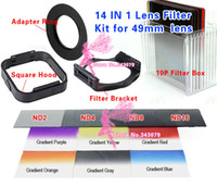 Wholesale IN Camera Lens Filters Kit mm Adapter Ring LENS Hood ND Gradient Filters