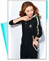 Wholesale Women Sport Suit Brand Clothing set Sportswear Casual Hoodies Twinset Womens Sports Costumes Jumpsuit Tracksuits Sport