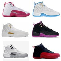 shoes basketball jordan - 2016 high quality air retro XII University Blue gs barons Dynamic Pink ovo white French Blue Hyper Violet Woman Basketball Shoes Sneaker