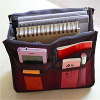 Wholesale Women Travel Insert Handbag Purse Dual Insert Multi function Handbag Makeup Bag Pocket Bag Organizer Washing Bag Cosmetic Handbag