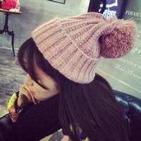 Wholesale Winter Women Hats Korean Version Of The Cute Warm Knit Cap Winter Fashion Couple Capswinter Fashion Couple Hats N